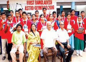 Winner of Astro-Olympiad 2006 at Chittagong